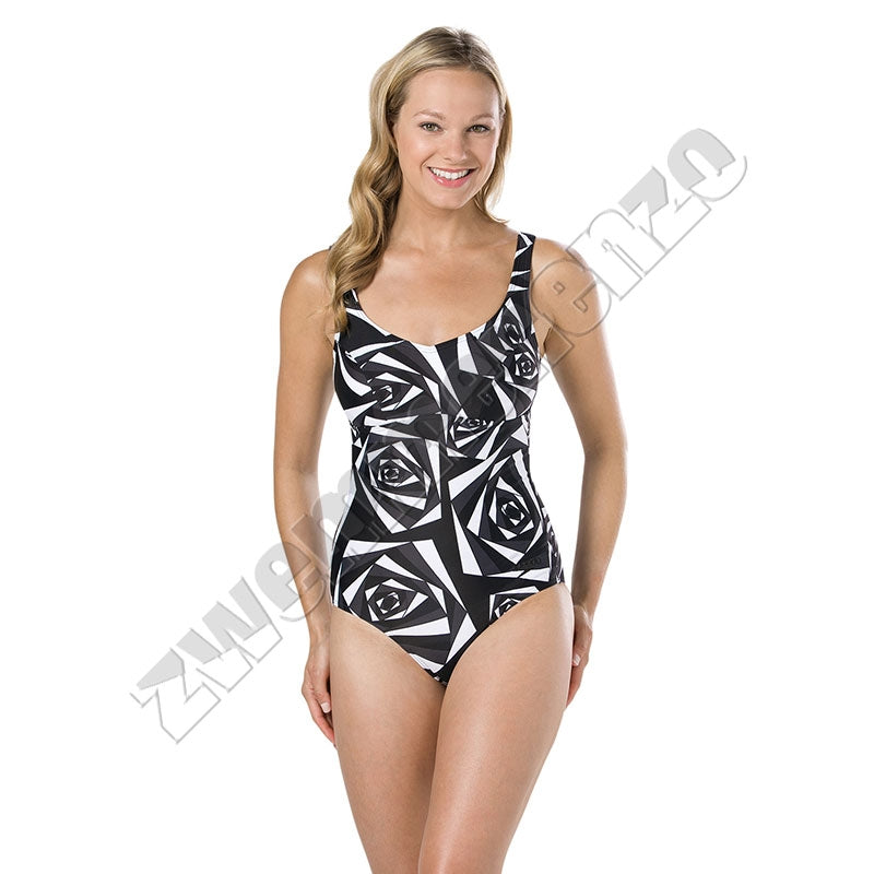 Speedo Marlena 1 Piece Black/ Oxid grey