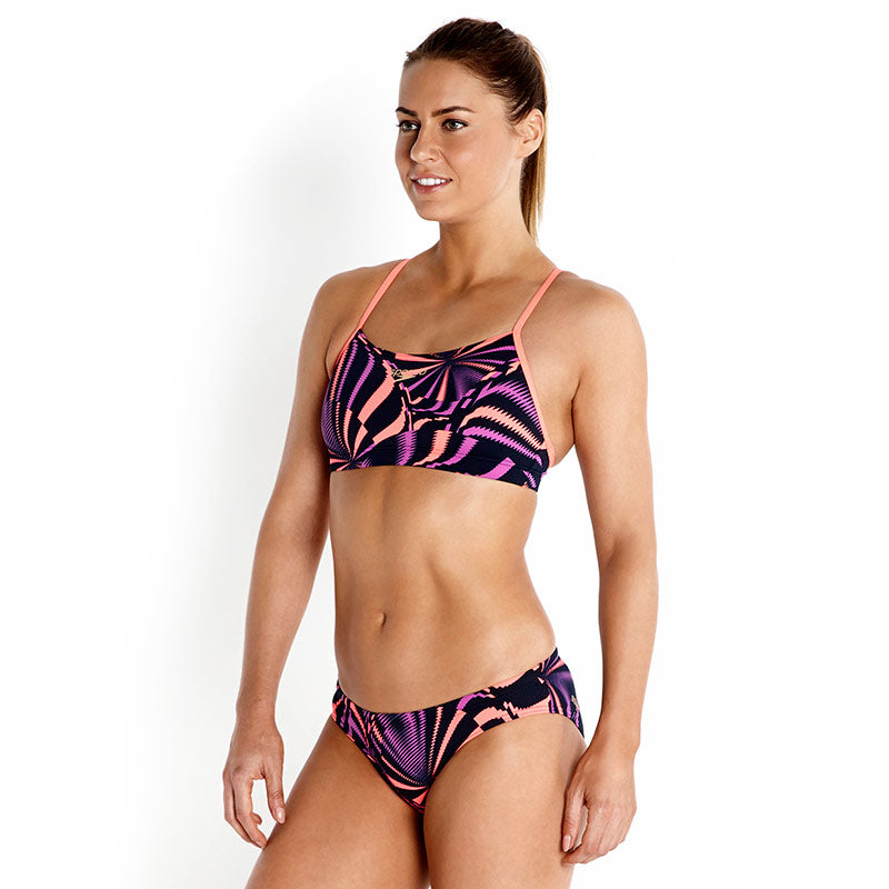 Speedo Allover 2 Piece Rippleback Print 4 Navy/Paars