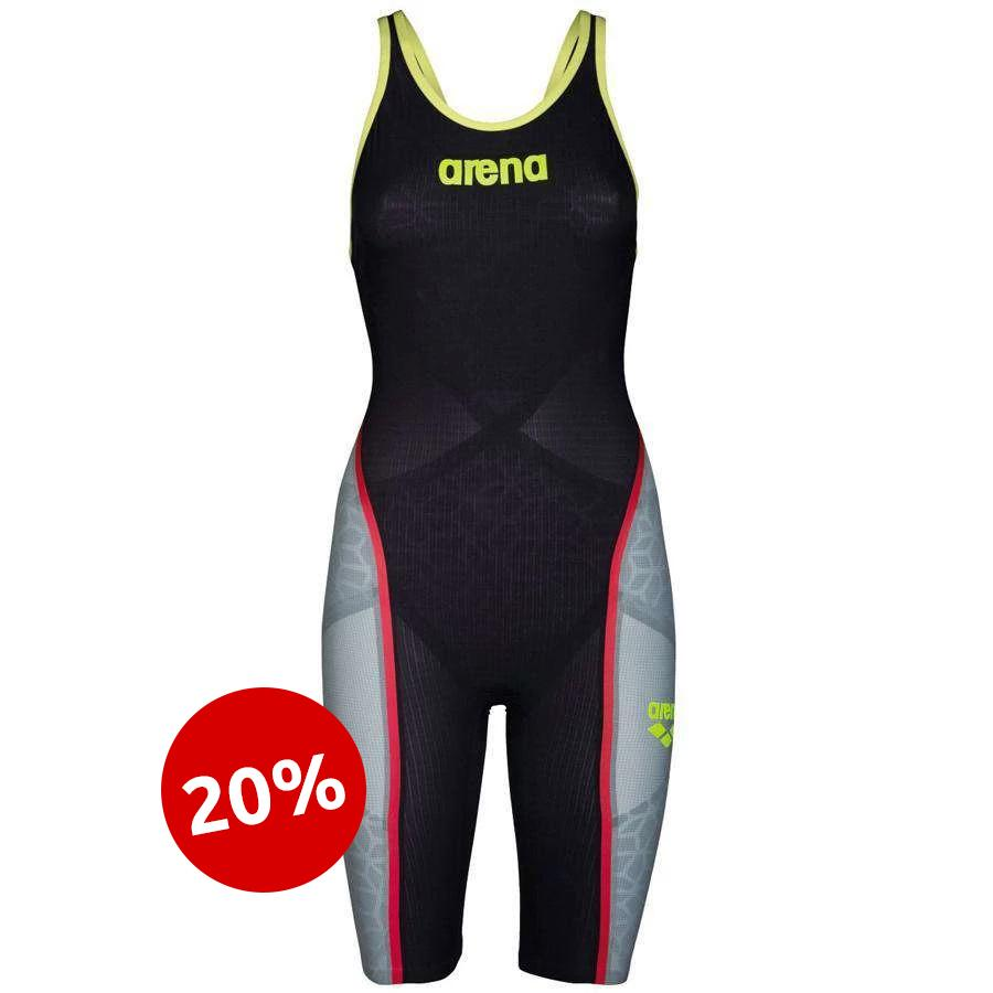 Carbon Ultra Open Back Donkergrijs / Fluo-geel | Arena