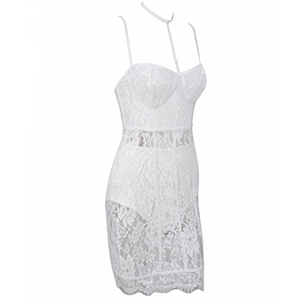 Bria Lace Dress White
