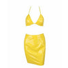Esther Vinyl Two Piece Canary Yellow
