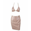 Esther Vinyl Two Piece Naked Nude
