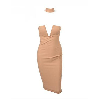 Aris Choker Dress Nude