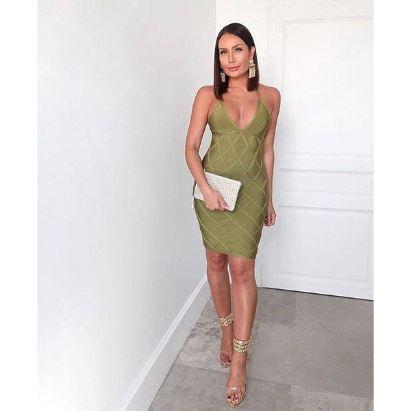 Demera Bandage Dress Green