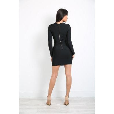 Dasha Chain Bandage Dress Black