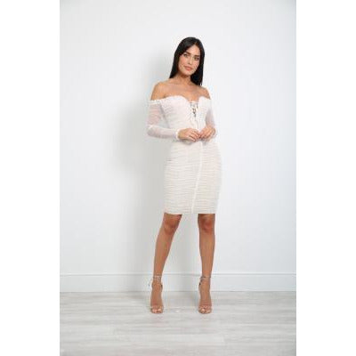 Tammira Lace Bardot Dress