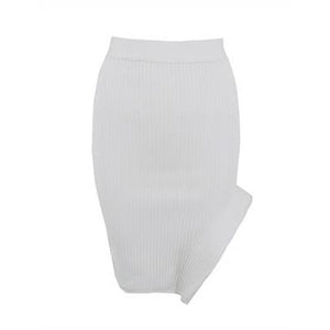 Kehlana Ribbed Bandage Skirt
