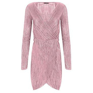 Elari Pleated Dress Pink