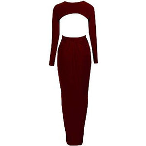 Acani Drape Maxi Dress Wine
