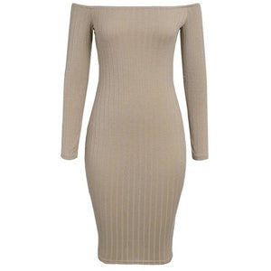 Anille Ribbed Bardot Dress