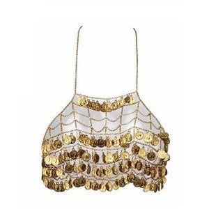 Arien Gold Coin Sling Top