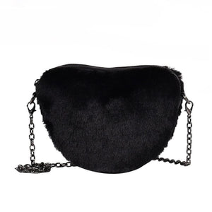 Ashton Faux Fur Bag Black