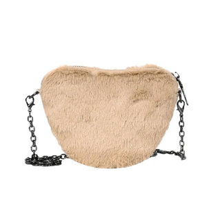 Ashton Faux Fur Bag Camel