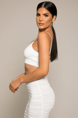 Athera Crop Top White