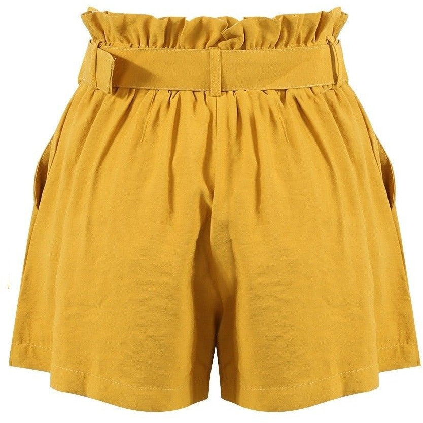 Azada Cotton Shorts Mustard