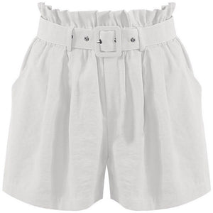 Azada Cotton Shorts White