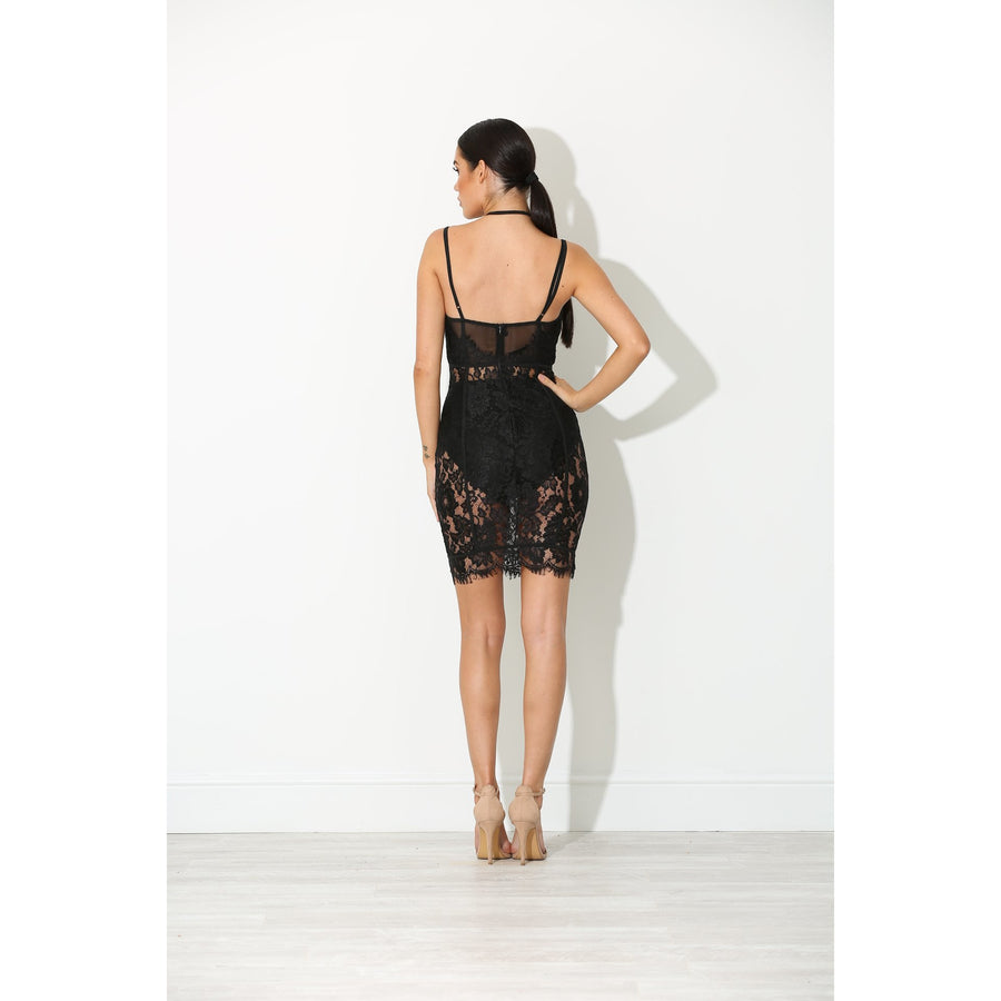 Bria Lace Dress Black