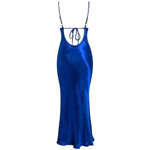 Calia Satin Ankle Dress Royal Blue