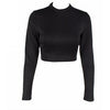 Calva Black Crop Top