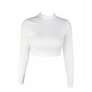 Calva White Crop Top