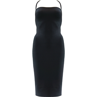 Caprie Backless Bandage Dress Black