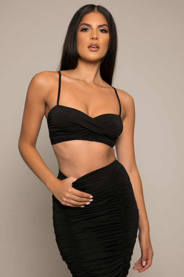 Carena Crop Top Black