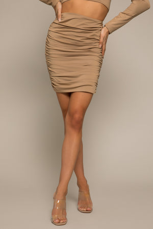 Carla Ruched Mini Skirt