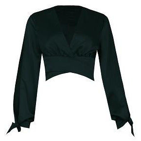 Catara Satin Blouse Black