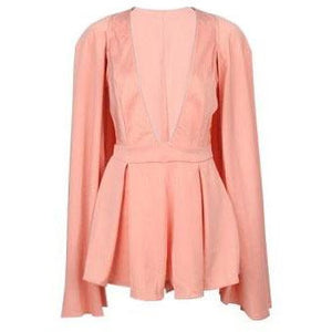 Celeste Coral Cape Playsuit