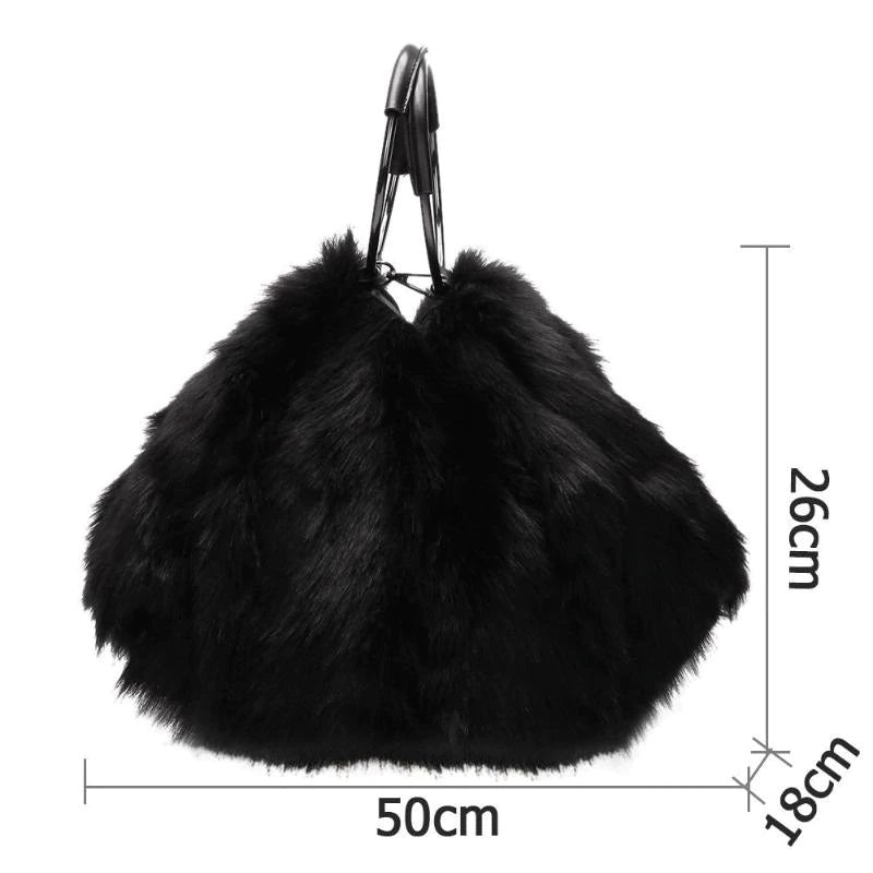 Cheshire Faux Fur Bag Black