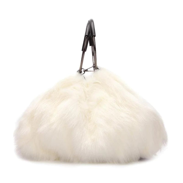 Cheshire Faux Fur Bag Cream