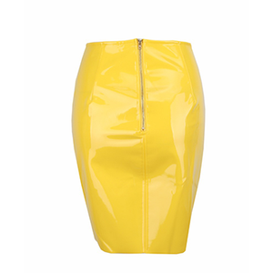 Cairo Vinyl Skirt Yellow