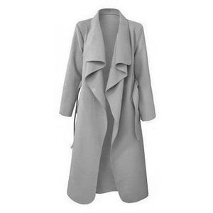 Crawford Drape Overcoat Grey