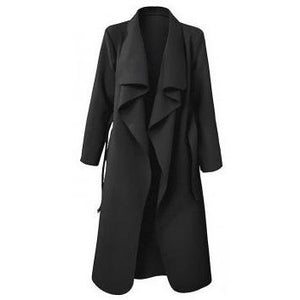 Crawford Drape Overcoat Black