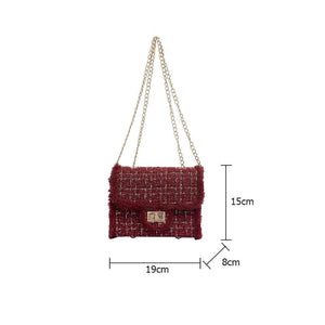 Derby Tweed Bag Red