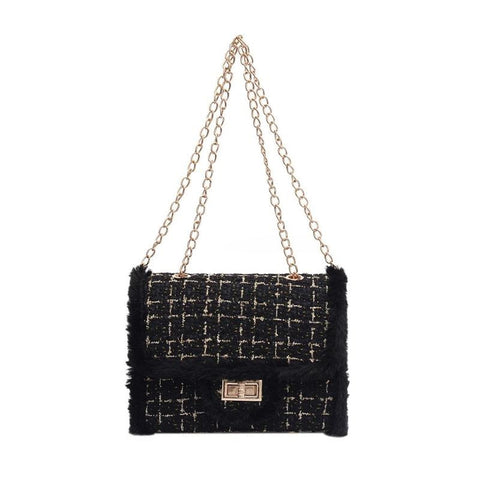 Derby Tweed Bag Black