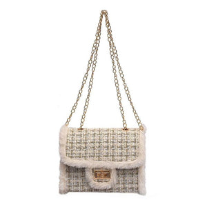 Derby Tweed Bag Cream