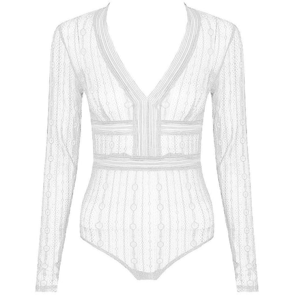 Deri Bodysuit White