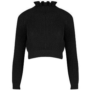 Effie Chunky Black Knit Crop Jumper