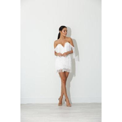 Ellia White Tassell Dress