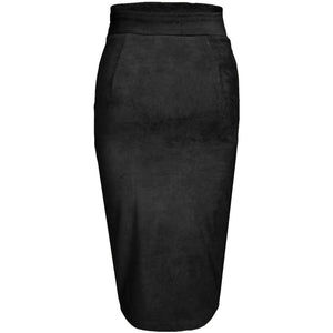 Emine Suede Skirt Black