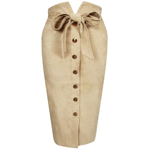 Emine Suede Skirt Cream
