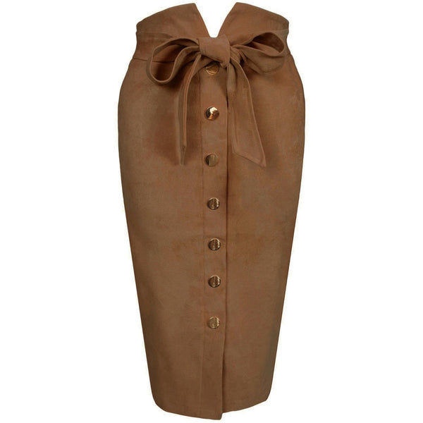 Emine Suede Skirt Toffee