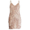 Erika Sequin Dress Peach