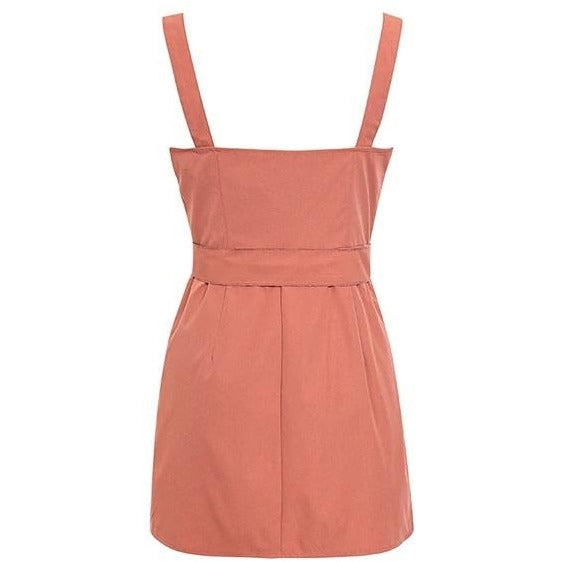 Erin Cargo Wrap Mini Dress Pink