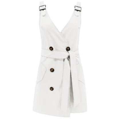 Erin Cargo Wrap Mini Dress White