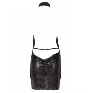 Esther Black Chainmail Dress