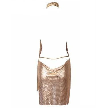 Esther Chainmail Dress -Rose