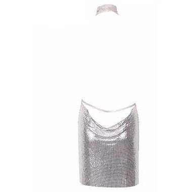 4bb82c7b799ab Esther Silver Chainmail Dress - NewAgeRebel.com