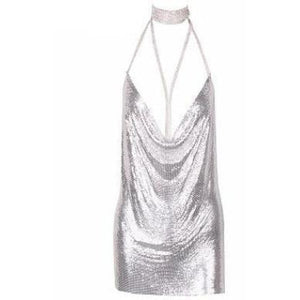 Esther Silver Chainmail Dress